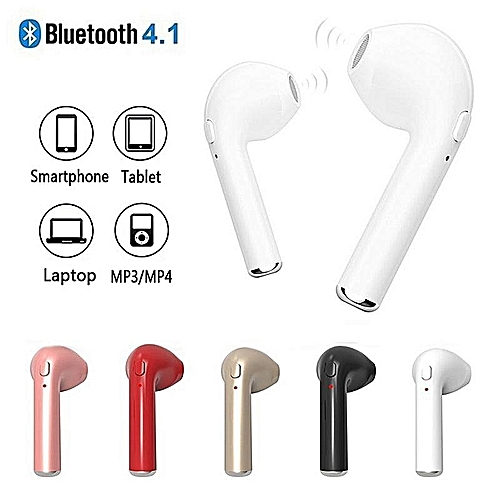 HBQ-I7 Double Ear Mini Bluetooth Headsets Earbuds Wireless H