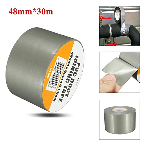 2PCS Waterproof Duct Tape 4.8cm*30m Heavy Duty Duct Gaffer Cloth Tape Silver Grey