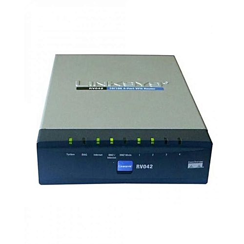 RV042 4-port 10/100 Wireless VPN Router + 2 WAN Port
