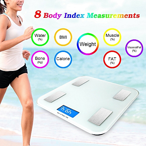 Bathroom Body Mass Fat Scale Floor Scientific Smart Weight Scale Electronic LED Digital Balance Bluetooth APP Android Or IOS( )