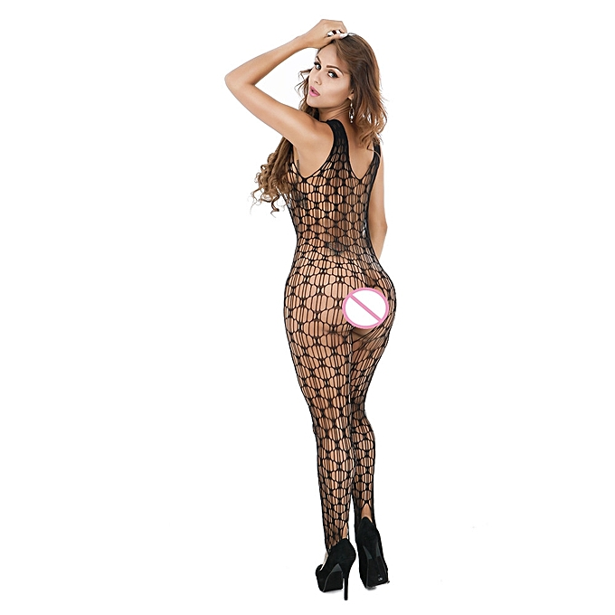 e994b0be84 Fashion  Sexy Women Fishnet Sheer Open Crotch Body Stocking Bodysuit  Lingerie