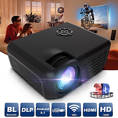 HDMI Wifi 1080P LED Mini Projector 3D Bluetooth Home Theater Cinema For Android