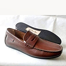 36a0d30e4c6 Brown Classic Loafers For Men