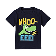 c62f1daac60e Kids Summer Children'S Wear Boy English Alphabet Dinosaur Short Sleeve  T-