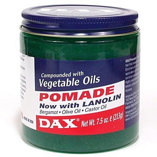 Hair Pomade With Lanolin And Vegetable Oils And Castor Oil