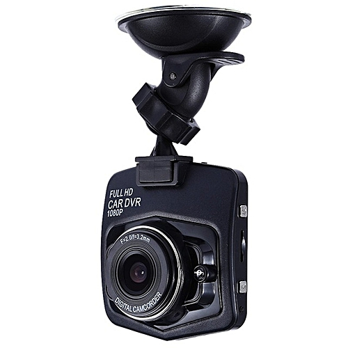 GT300 1080P 2.4 Inch Car Dashcam Video Recorder - Black