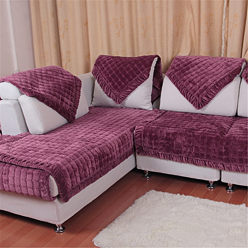 Sofa Thick Protector Throw Furniture Seat Cover Lounge Flannel Plush Slipcover