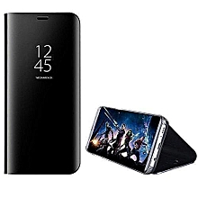 Samsung S9 Plus Clear View Case-black+ Free Tampered Glass