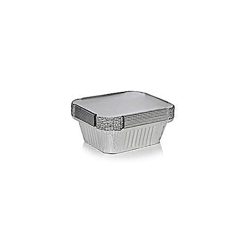 × 100 Folded Foil Take Away For Moi Moi With Cover