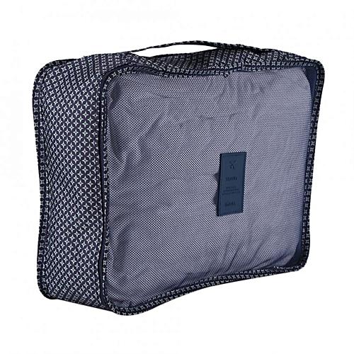 6Pcs/Set Household Portable Waterproof Storage Box Clothes Packing Organizer Dark Blue Stars