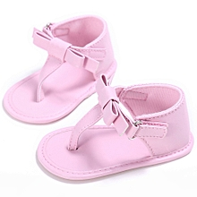 Toddler Girl Crib Shoes Newborn Flower Soft Sole Anti-slip Baby Sneakers  Sandals-As