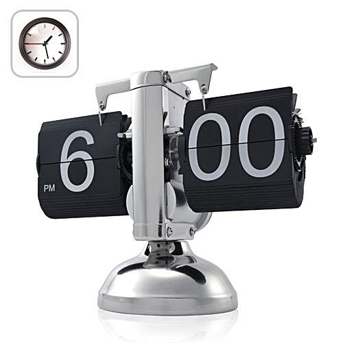 Desk Digital Auto Flip Down Clock - Internal Gear Operated