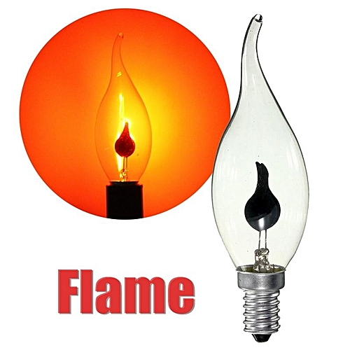 3W E14 Edsion Fire Flame Candle Tail Edison Light Bulb Lamp Chandelier Red 220V #02