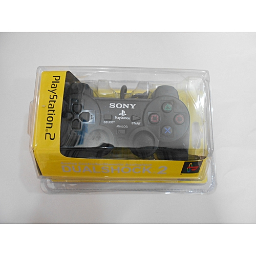 PS2 DualShock 2 Controller Pad For Official Playstation 2 - Black (1 Piece)