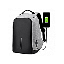 9c40b79c8e Anti Theft Smart Bag Travel Backpack  amp  Laptop Bag With USB Charging  Port- Grey